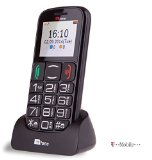 TTfone Mercury 2 (TT200) Pay As You Go – Prepay – PAYG – Big Button Basic Senior Mobile Phone – Simple – with Dock (T-Mobile Pay as you go, Black)