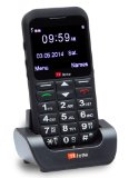 TTfone Earth Big Button Mobile Phone Easy to Use Simple Huge Screen Camera SOS Button Sim Free Black