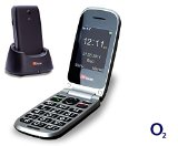 TTfone Pluto (TT600) Pay As You Go – Prepay – PAYG – Big Button Clamshell Flip Senior Emergency Mobile Phone – Easy to Use Simple (O2 with £10 Credit, Black)