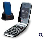 TTfone Pluto (TT600) Pay As You Go – Prepay – PAYG – Big Button Clamshell Flip Senior Emergency Mobile Phone – Easy to Use Simple (O2 with £10 Credit, Blue)
