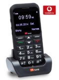 TTfone Earth Vodafone Pay As You Go Big Button UK Sim Free Mobile Phone with Huge Screen, SOS Button and Dock