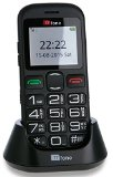 TTfone Jupiter 2 Big Button Easy Senior Sim Free Mobile Phone Emergency Button and Dock Charger