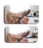 Senior woman Using mobile phone at home cell phone cover case iPhone 4 5 6 / iPad mini 2 3 / Samsung S3 S4 S5 S6 Note2 Note3 Note4 / HTC Blackberry Sony Huawei