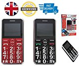 Big Digit Mobile Phone Large Digits SOS Button Unlocked Senior Citizen Friendly Twin Pack RED & BLACK