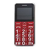 Big Digit Large Button Senior Friendly Mobile Phone SOS Dial Red