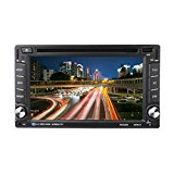 Android Car DVD Player, CATUO Android 6.0 Car DVD Player with Radio Receiver FM AM GPS Navigation System 6.2-inch HD Digital Screen Compatible of MP4 / DIVX / DVD / VCD / SVCD / CD / MP3 / CD ± RW etc Disc Format