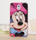 Fashion Style Lovely Combo Back Case for Samsung Galaxy Note3 Cute Colorful Painted Patterns Transparent Cover for Samsung Note III (Minnie)