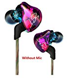 Joyeer Armature Dual Driver Super Treble Middle Bass Earphone Detachable Cable In-Ear Audio Monitors Headphone Noise Isolating HiFi Music Sports Earbuds , A